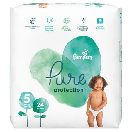 Pampers Pure Protection S5, 24 ks, 11-16 kg
