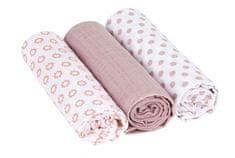 Lässig plenice Swaddle blanket Little Chums Star light light pink, 85x85, svetlo roza