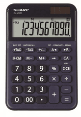 Sharp kalkulator ELM335BBL, namizni, 10-mestni, moder