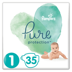 Pampers Pure Protection S1, 35 db, 2-5 kg