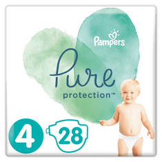 Pampers Pure Protection S4, 112 pcs (4x28 pcs), 9-14 kg