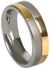 Boccia Titanium pierścień 0101-10 żółte złoto 585/1000