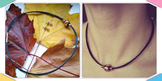 Boccia Titanium Črna jeklena ogrlica 0859-01