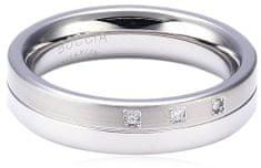 Boccia Titanium Titánový snubný prsteň s diamantmi 0129-03