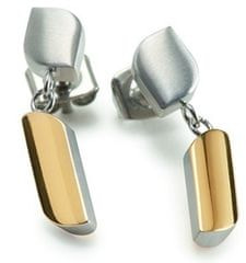 Boccia Titanium Pozlátené titánové náušnice 05010-02