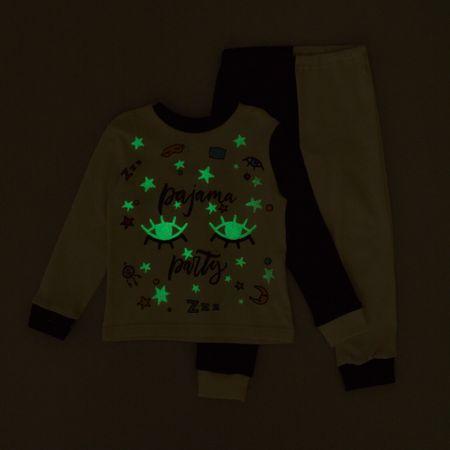 f6d0ea266 Garnamama detské svietiace pyžamo 116 biela/čierna | MALL.SK