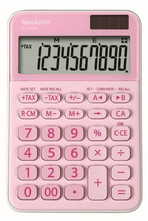 Sharp kalkulator ELM335BPK, namizni, 10-mestni