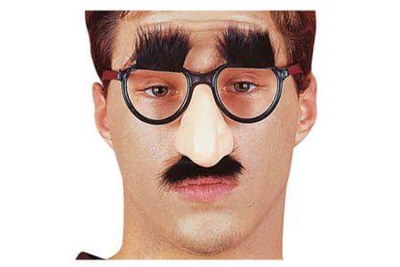 Carnival Toys očala nos brki + obrvi VR.5203