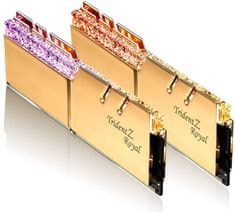 G.Skill pomnilnik (RAM) Trident Z Royal DDR4 16GB (2x8GB), 3200MHz, RGB, zlat (F4-3200C16D-16GTRG)