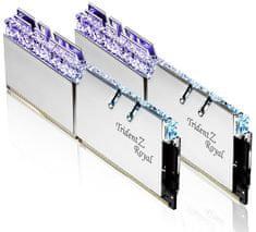 G.Skill pomnilnik (RAM) Trident Z Royal DDR4 16GB (2x8GB), 3600MHz, RGB, srebrn (F4-3600C17D-16GTRS)