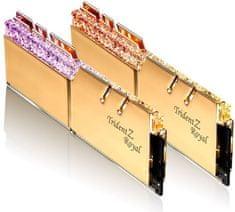 G.Skill pomnilnik (RAM) Trident Z Royal DDR4 16GB (2x8GB), 3600MHz, RGB, zlat (F4-3600C17D-16GTRG)
