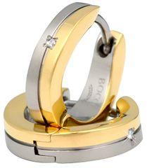 Boccia Titanium Gyémánttal díszített elegáns titán fülbevaló 0563-04