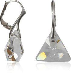 MHM Náušnice Triangle Crystal Ag 32198 stříbro 925/1000