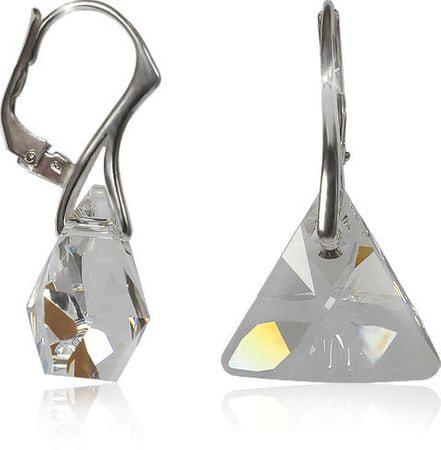 MHM Kolczyki kryształ Triangle Ag 32198 srebro 925/1000