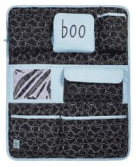 Lässig organizator za otroške pripomočke Car Wrap-to-Go Spooky black, črno-siva