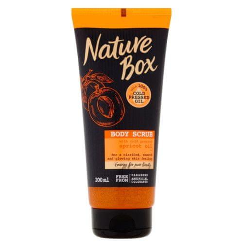 Nature Box Přírodní tělový peeling Apricot Oil (Body Scrub) 200 ml