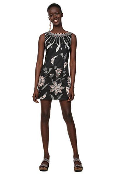 0efc188329 Desigual Dámské šaty Vest Kira Negro 19SWVWB3 2000 (Velikost 36)