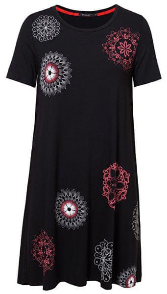 f34c37055f Desigual Dámské šaty Vest Liricaa Negro 19SWVK86 2000 (Velikost S)