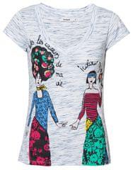 Desigual Dámske tričko TS Twins Tee Blanco 19SWTK32 1000