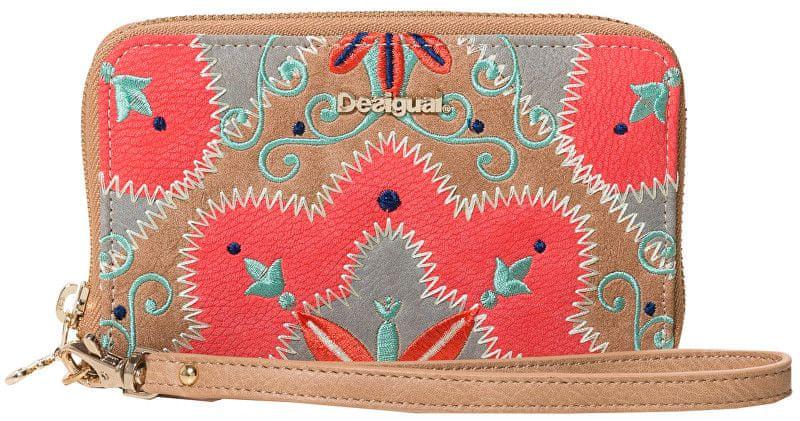 Desigual Peněženka Mone Mary Jackson Mini Zip Coral 19SAYP09 7019 a9252039b1c