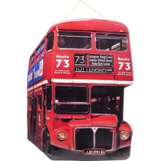 KARE Nástěnná dekorace Tottenham Bus