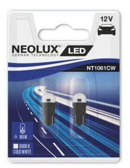 NEOLUX Žárovka typ W5W, LED Interior 6000K, 26,8 mm, W2.1x9.5d