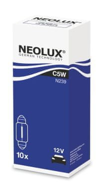 NEOLUX Žárovka typ C5W, Standard 5W, 12V, SV8.5-8, (karton 10 ks)