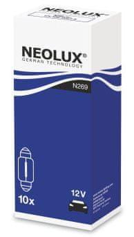 NEOLUX Žárovka typ C10W, Standard 10W, 12V, 31 mm, SV8.5-8, (karton 10 ks)
