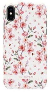 SO SEVEN Fashion Tokyo White Cherry Blossom Flowers Cover az iPhone X/XS típushoz SSBKC0001