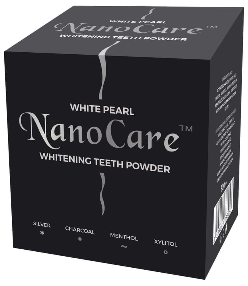 White Pearl NanoCare Silver Charcoal bělicí pudr