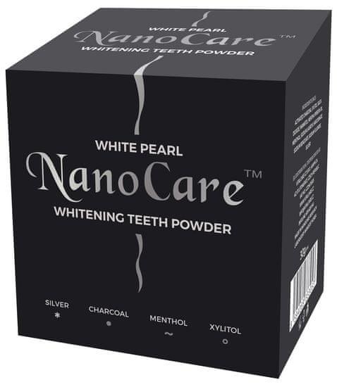 White Pearl prašak za izbjeljivanje zubi s aktivnim ugljenom NanoCare Silver Charcoal
