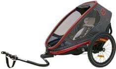 Hamax kolesarska prikolica za otroka Outback ONE grey/red/antrac, siva/rdeča/antracitna