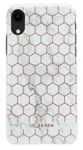 SO SEVEN Fashion Milan Hexagonal Marble White/Rose Gold pro iPhone XR SSBKC0095