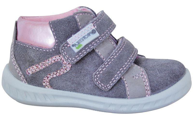 Protetika dívčí kotníkové boty Adel 26 šedá