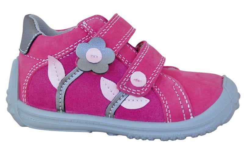 Protetika dívčí kotníkové boty Samanta 26 růžová