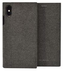 SO SEVEN Premium Gentleman Book Case Fabric Anthracite pro iPhone X/XS SSFLS0001