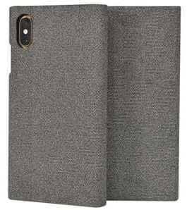 SO SEVEN Premium Gentleman Book Case Fabric Grey pro iPhone XS Max SSFLS0008