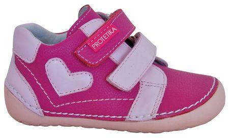 Protetika dívčí kotníkové barefoot boty Pony 19 růžová