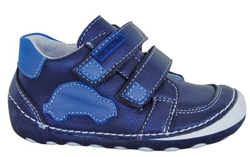 acf9f3fd938 Protetika chlapecké kotníkové barefoot boty Levis 25 modrá