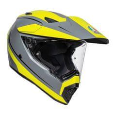 AGV off-road/on-road moto prilba  AX9 Pacific Road sivá/fluo žltá (matná)