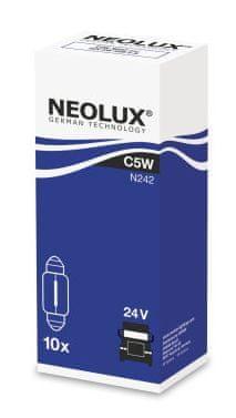 NEOLUX Žárovka typ C5W, Standard 5W, 24V, SV8.5-8