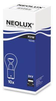 NEOLUX Žárovka typ P21W, Standard 21W, 24V, BA15d, (karton 10 ks)