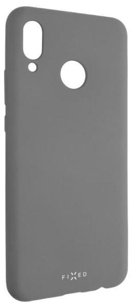 Fixed Zadní silikonový kryt Story pro Huawei Nova 3, šedý FIXST-333-GR
