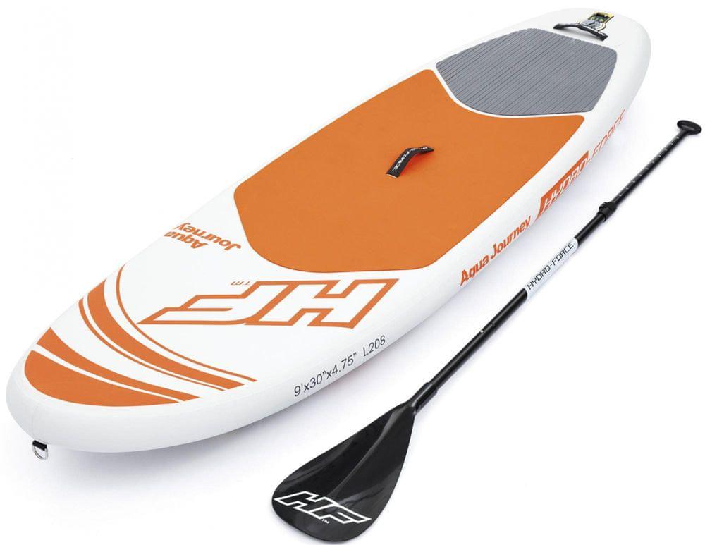 Bestway 65302 Paddleboard Aqua Journey 274×76×15 cm bílá/oranžová - zánovní