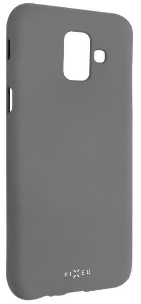 Fixed Zadní silikonový kryt Story pro Samsung Galaxy A6, šedý FIXST-311-GR