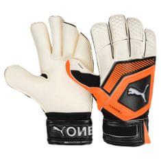 Puma rokavice One Grip 1 GC White/Shocking Orange, belo-oranžne 9