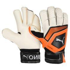 Puma rokavice One Grip 1 GC White/Shocking Orange, belo-oranžne 9,5