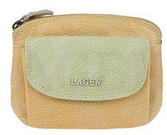 Lagen Női bőr pénztárca 786-382 Yellow Green