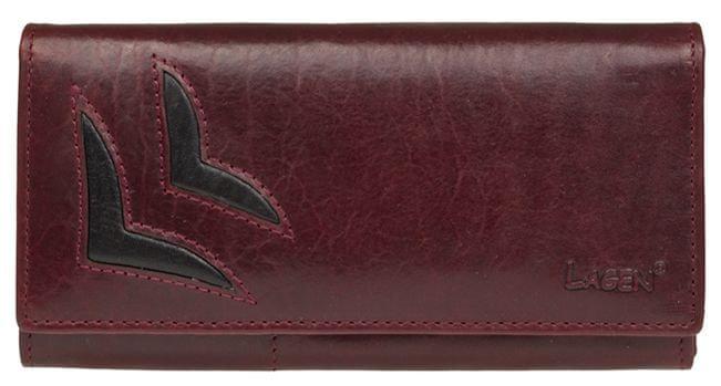 Lagen Dámská vínová kožená peněženka W B 6011 T 7701c7f6097