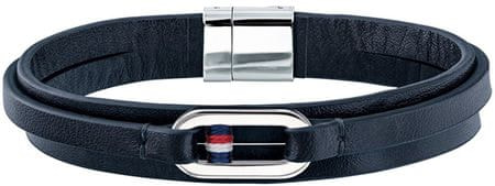 Tommy Hilfiger Modrý kožený náramek TH2790029